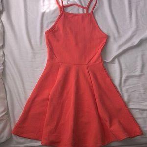 NWOT Coral Skater Dress